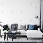 Wall Interior Mock Wall Art Scandinavian Stock Illustration 1387741109