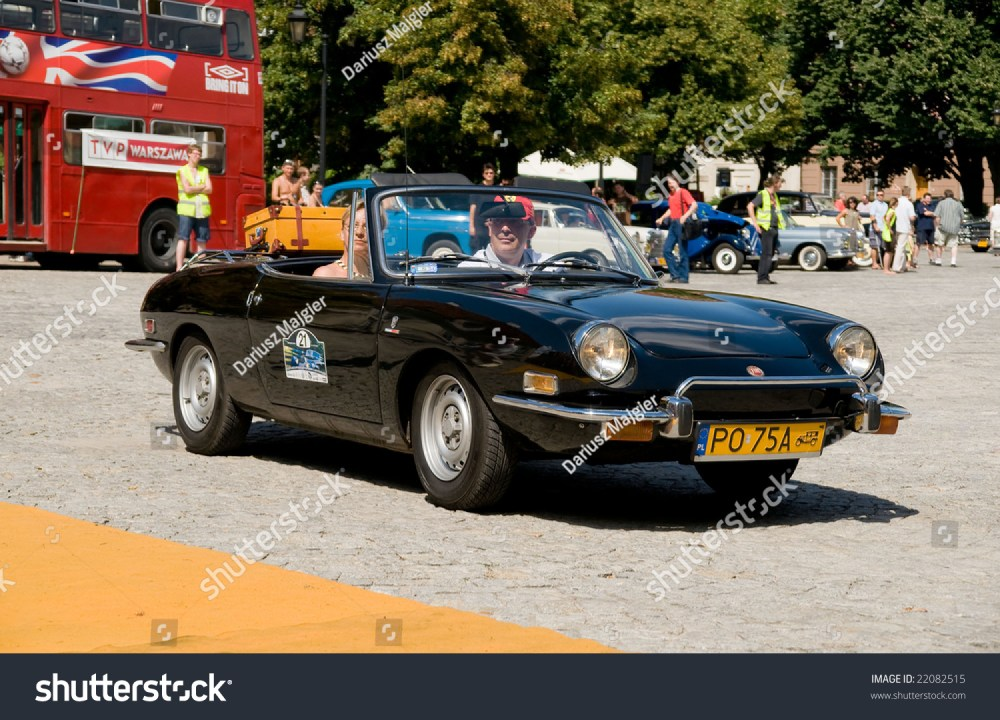 medium resolution of warsaw july 7 1973 fiat 850 sport spider on car competition during xxxith warsaw