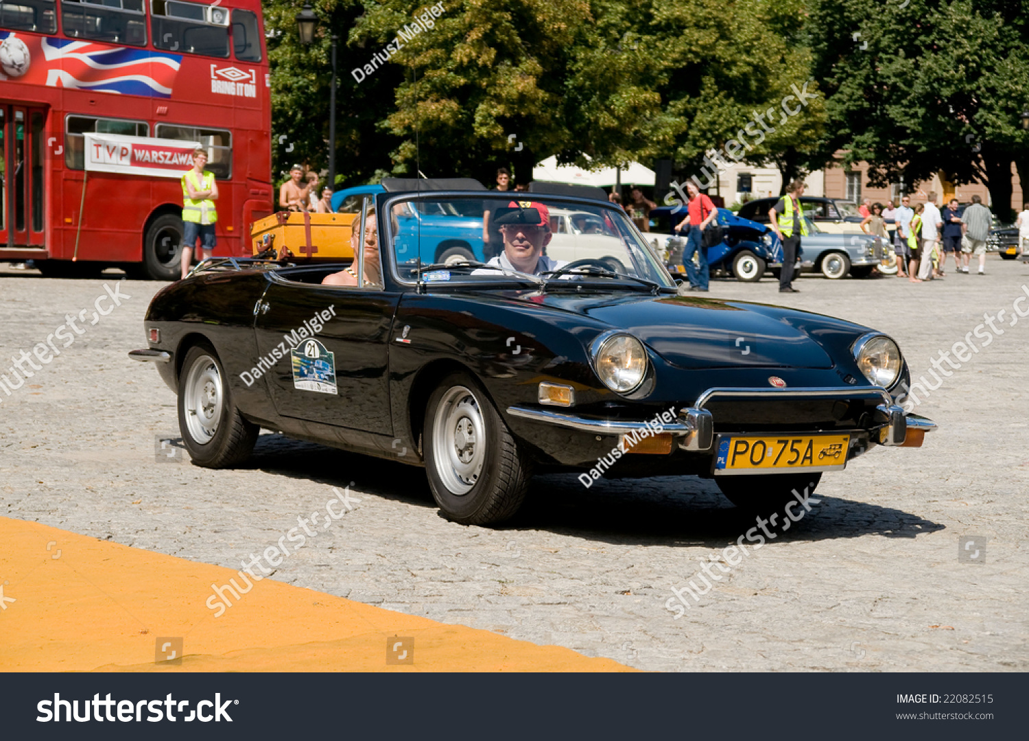 hight resolution of warsaw july 7 1973 fiat 850 sport spider on car competition during xxxith warsaw