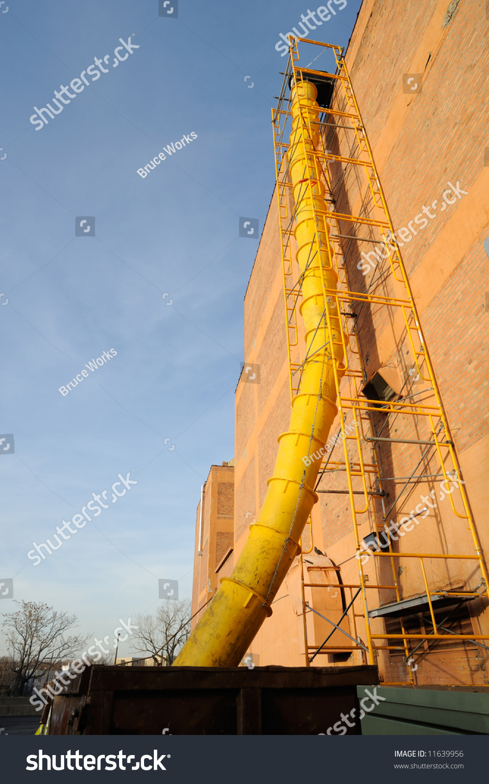 Waste Chute Used In Construction Demolition Stock Photo 11639956 : Shutterstock