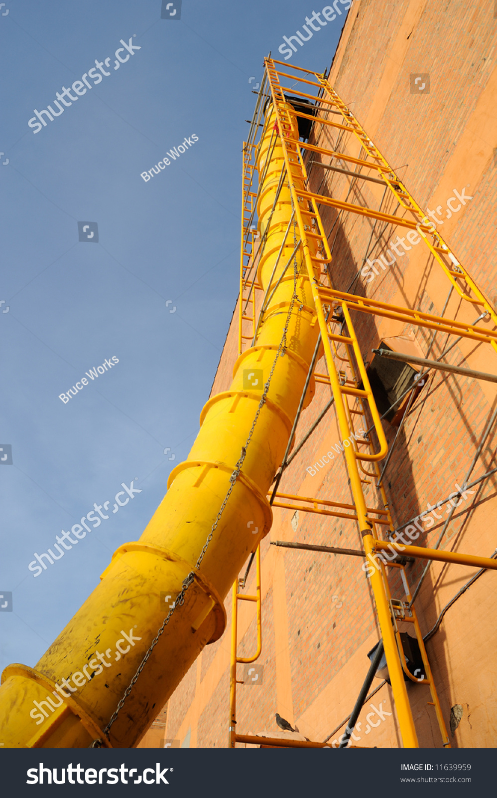 Waste Chute Used In Construction Demolition Stock Photo 11639959 : Shutterstock