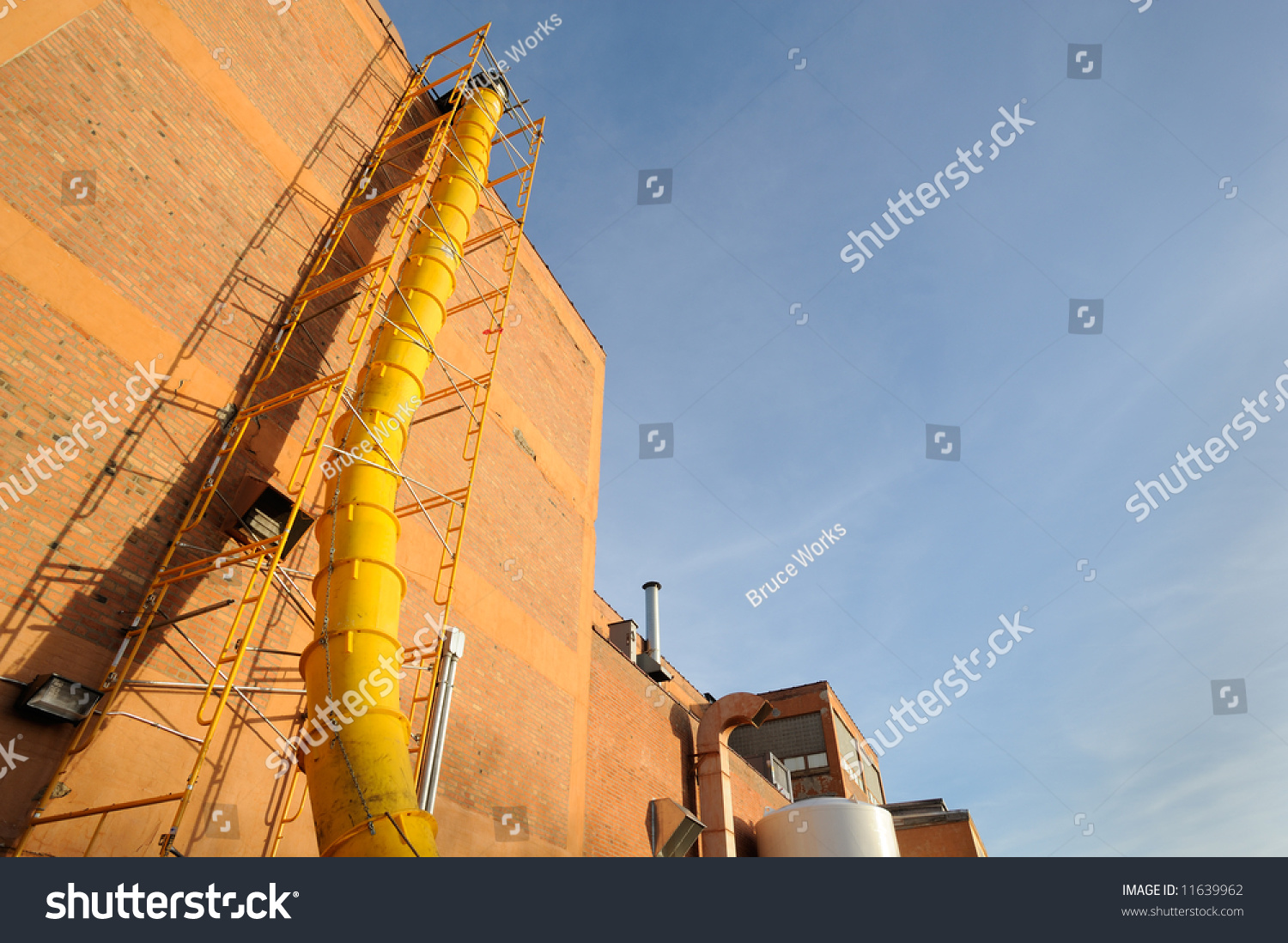 Waste Chute Used In Construction Demolition Stock Photo 11639962 : Shutterstock