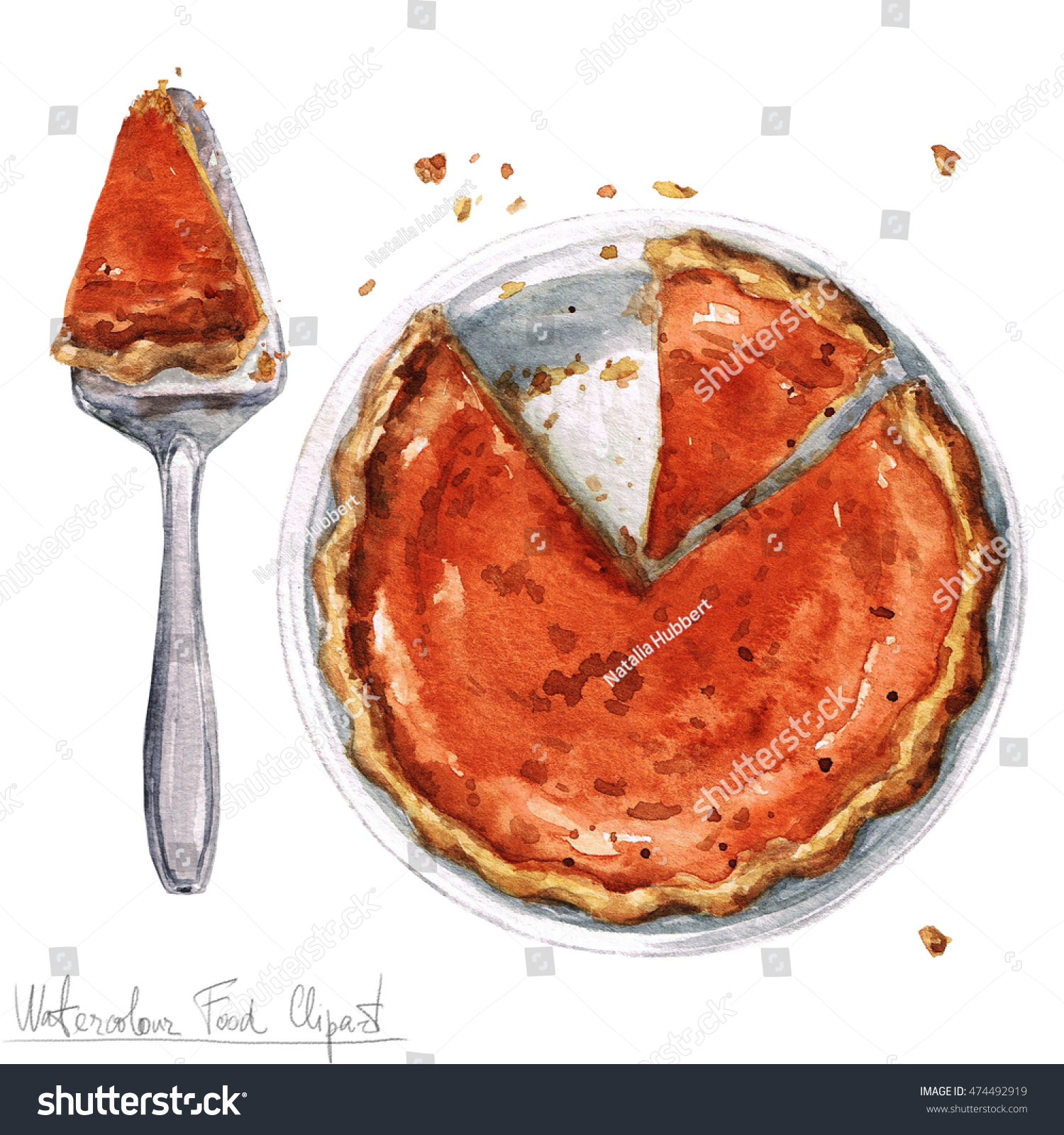 hight resolution of watercolor food clipart pumpkin pie