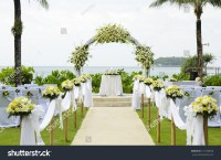 Wedding Set Garden Inside Beach Stock Photo 127108628 ...