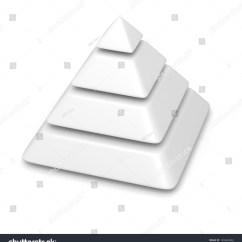 Blank Pyramid Diagram 5 Solar Battery Wiring White 4 Levels Stack Stock Illustration