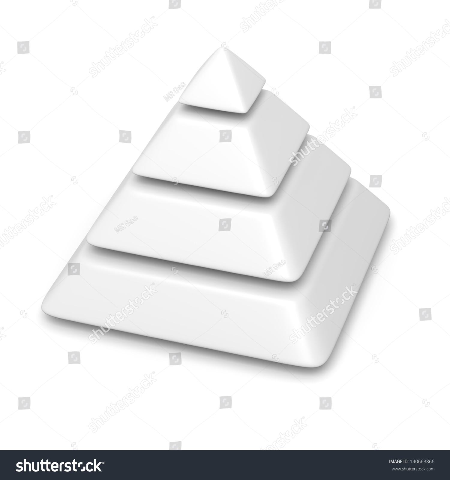 blank pyramid diagram 5 wiring for jeep grand cherokee white 4 levels stack stock illustration