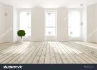 White Empty Interior Design Living Room Stock Illustration ...