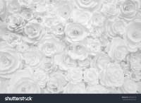 White Paper Flowers Decorative Background Stock Photo ...
