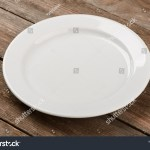 White Saucer Plate On Rustic Wooden Stock Photo Edit Now 1282071706