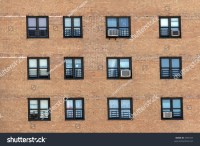 Windows Apartment Building Stock Photo 2350157