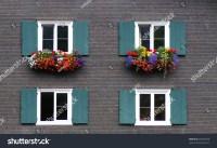 Windows With Flower Decoration Stock Photo 69450070 ...