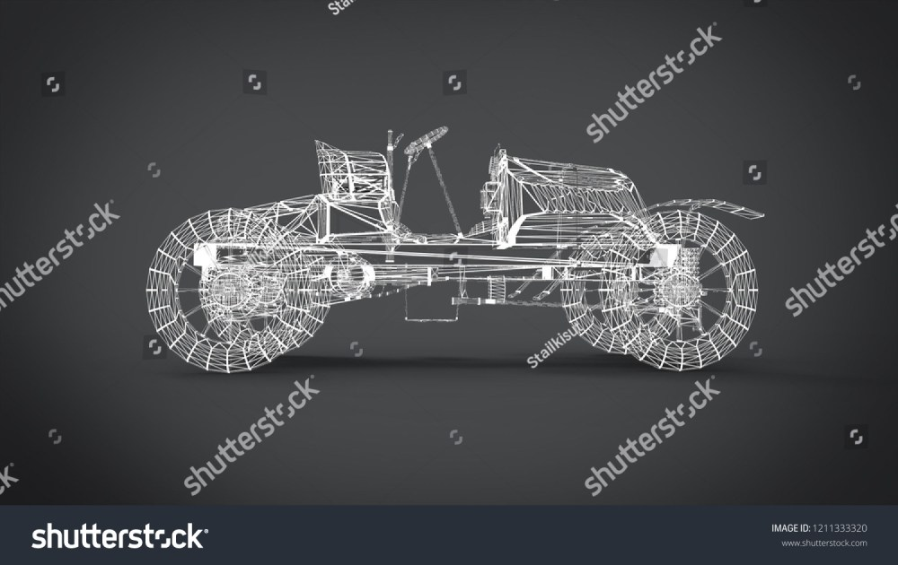 medium resolution of wireframe style classic retro cars 3d rendering results from the blender application