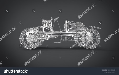 small resolution of wireframe style classic retro cars 3d rendering results from the blender application