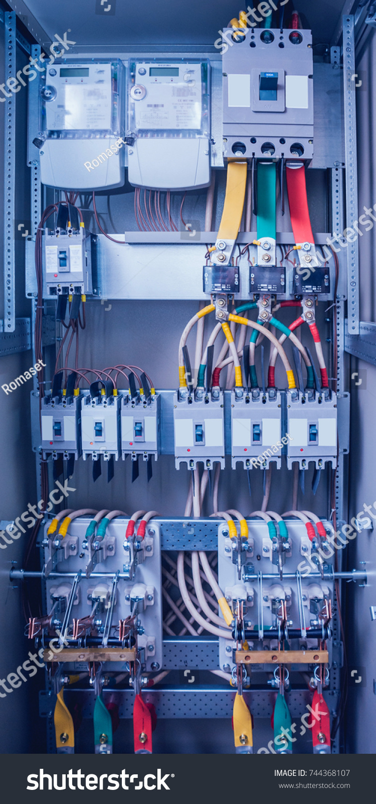 medium resolution of wires and switches in electric box electrical panel with fuses and