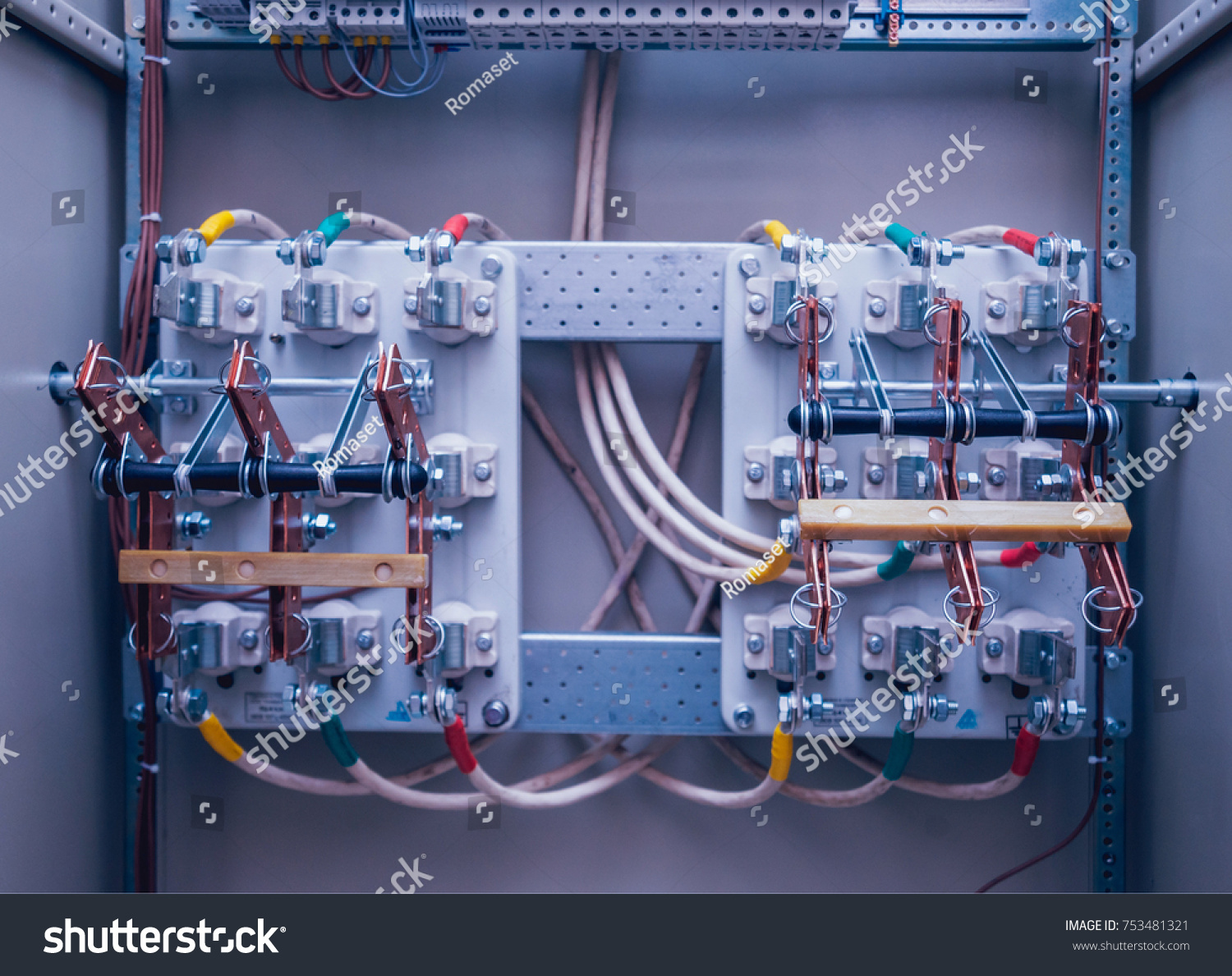 hight resolution of wires and switches in electric box electrical panel with fuses and contactors background and