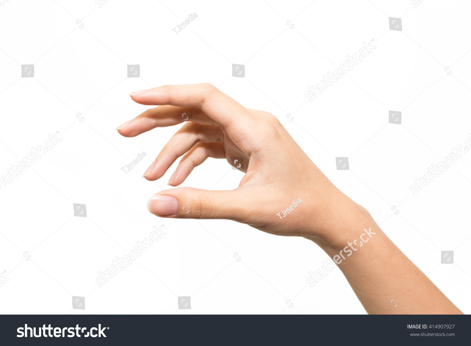 Woman Hand Keeping Something Isolated On Stock Photo 414907927 - Shutterstock