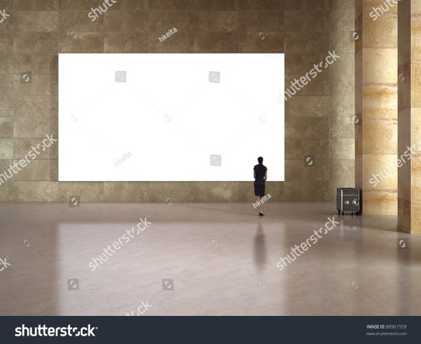 Woman Blank Frame In Art Stock