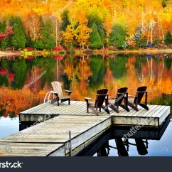 High Chairs Canada Canvas Material For Deck Wooden Dock On Calm Fall Stock Photo 32823508 - Shutterstock