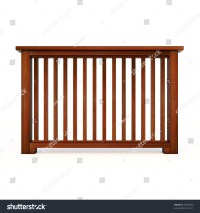 Wooden Railing Wooden Balusters Stock Illustration