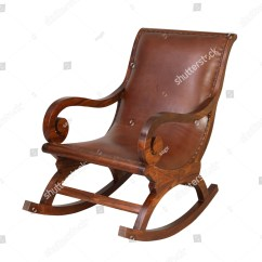 White Wood Rocking Chair Barber Restoration Wooden Isolated On Stock Photo