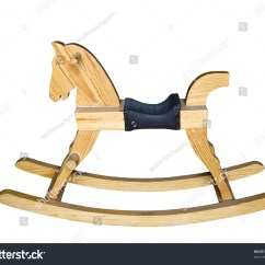 Horseshoe Rocking Chair Banquet Trolley Wooden Horse Children Isolated On White