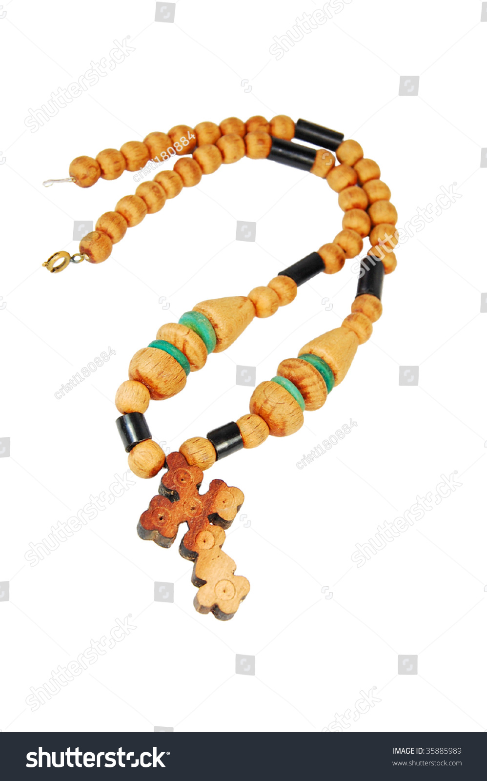 hight resolution of wooden rosary