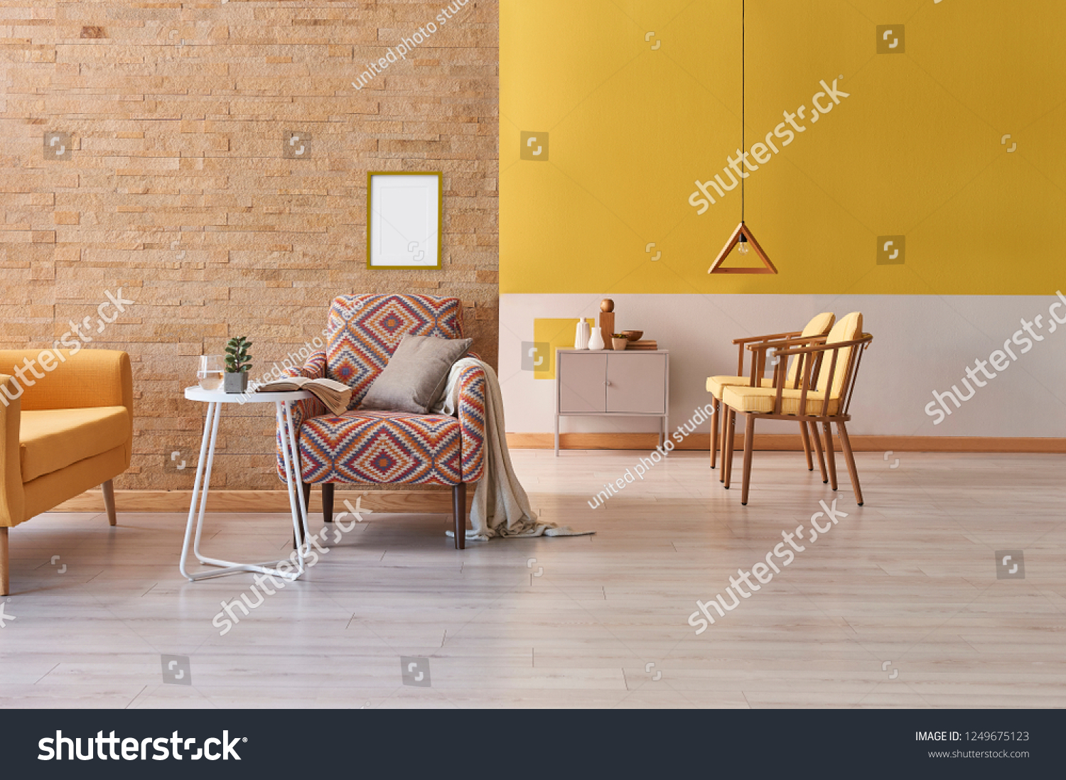 Yellow Living Room Chair Yellow Living Room Yellow Chair Sofa Stock Photo Edit Now