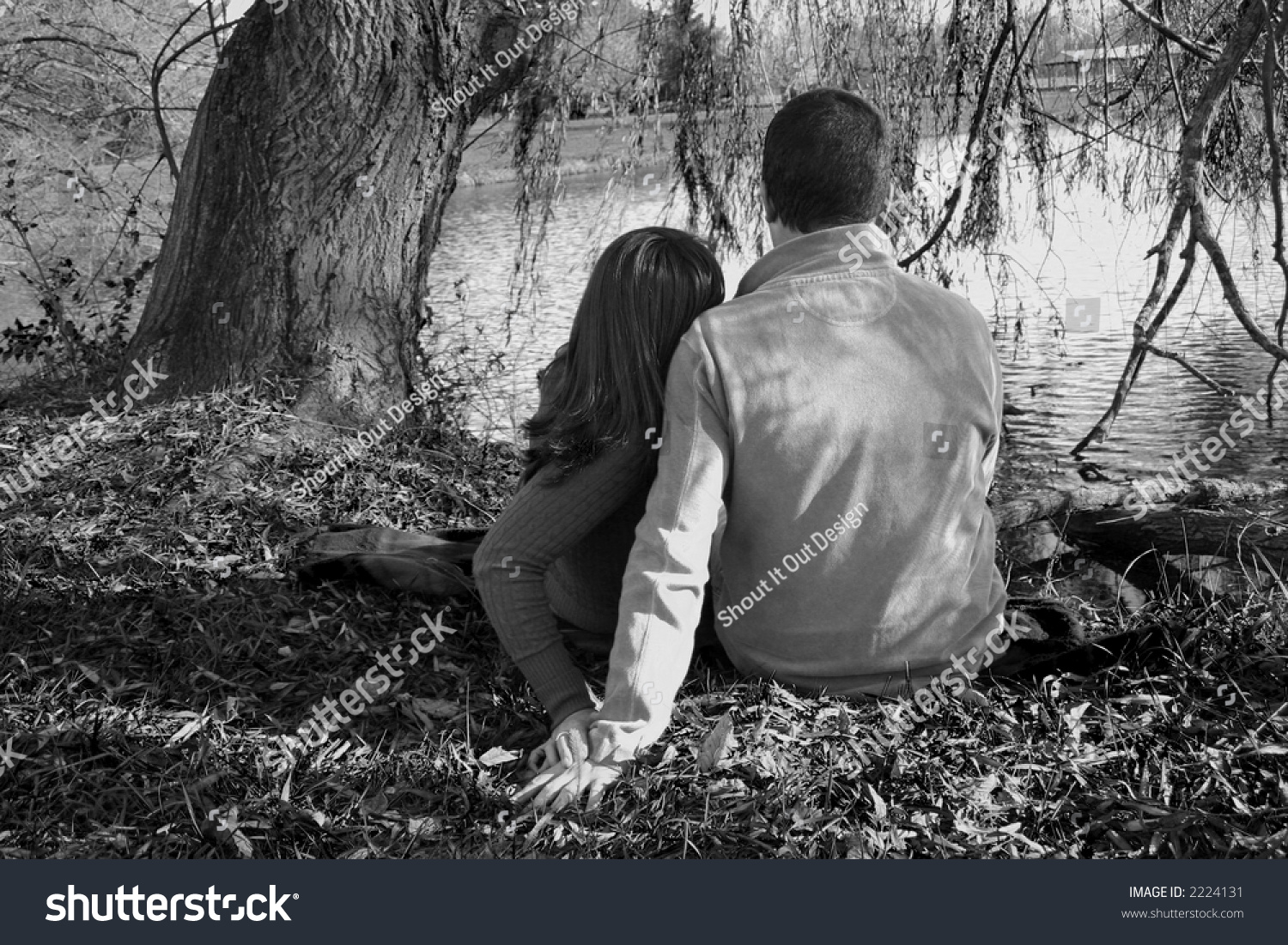 Image result for a couple sitting under tree