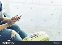 Girl Waiting at Airport