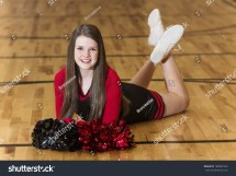 Young Teen Cheerleader Portrait Stock 180987224