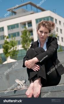 Barefoot Businesswoman