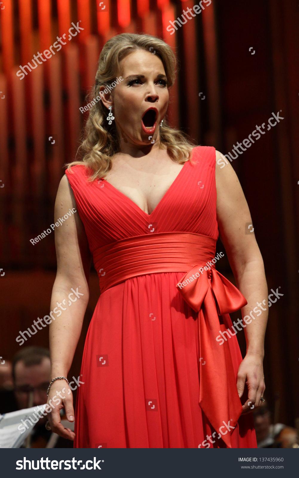 Zagreb, Croatia - January 21: World Opera Star, Mezzo-Soprano Elina Garanca Held A Concert In The Concert Hall Lisinski On January 21, 2013 In ...