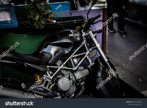 small resolution of zagreb croatia 09 18 2018 old neglected ducati monster bike parked on