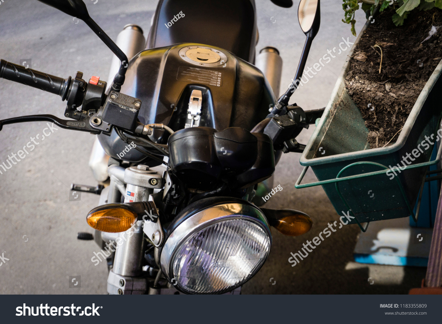 hight resolution of zagreb croatia 09 18 2018 old neglected ducati monster bike parked on