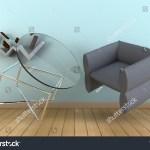 Zero Gravity Floating Book Shelf Modern Stock Illustration