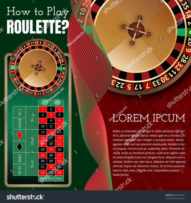 American Roulette Wheel Table Layout Online Stock Vector (Royalty ...