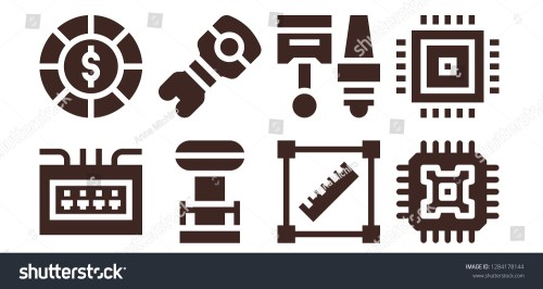 small resolution of circuit icon set 8 filled circuit icons simple modern icons about fuse box