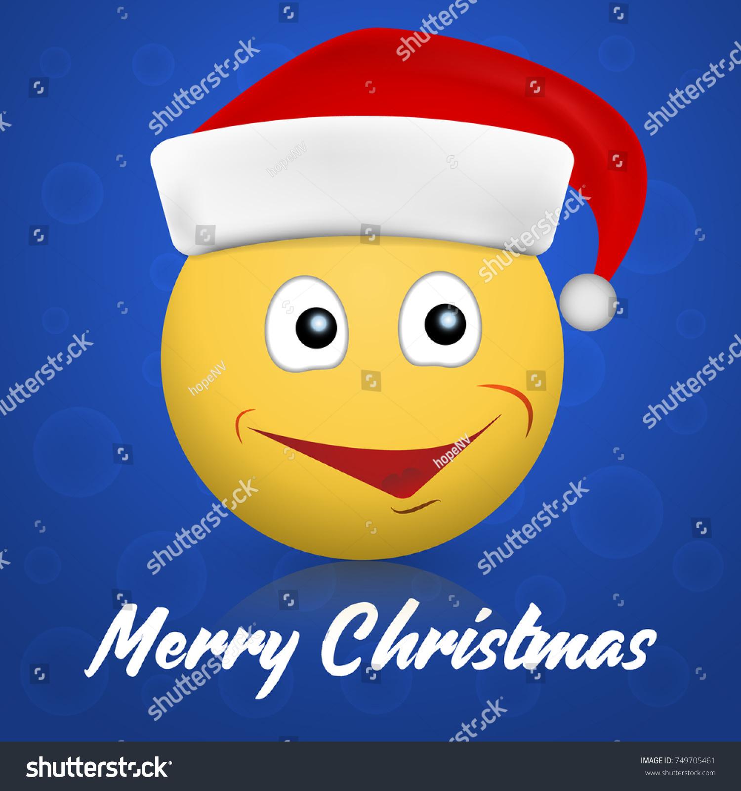 hight resolution of 3d christmas emoticon emoji icon vector illustration