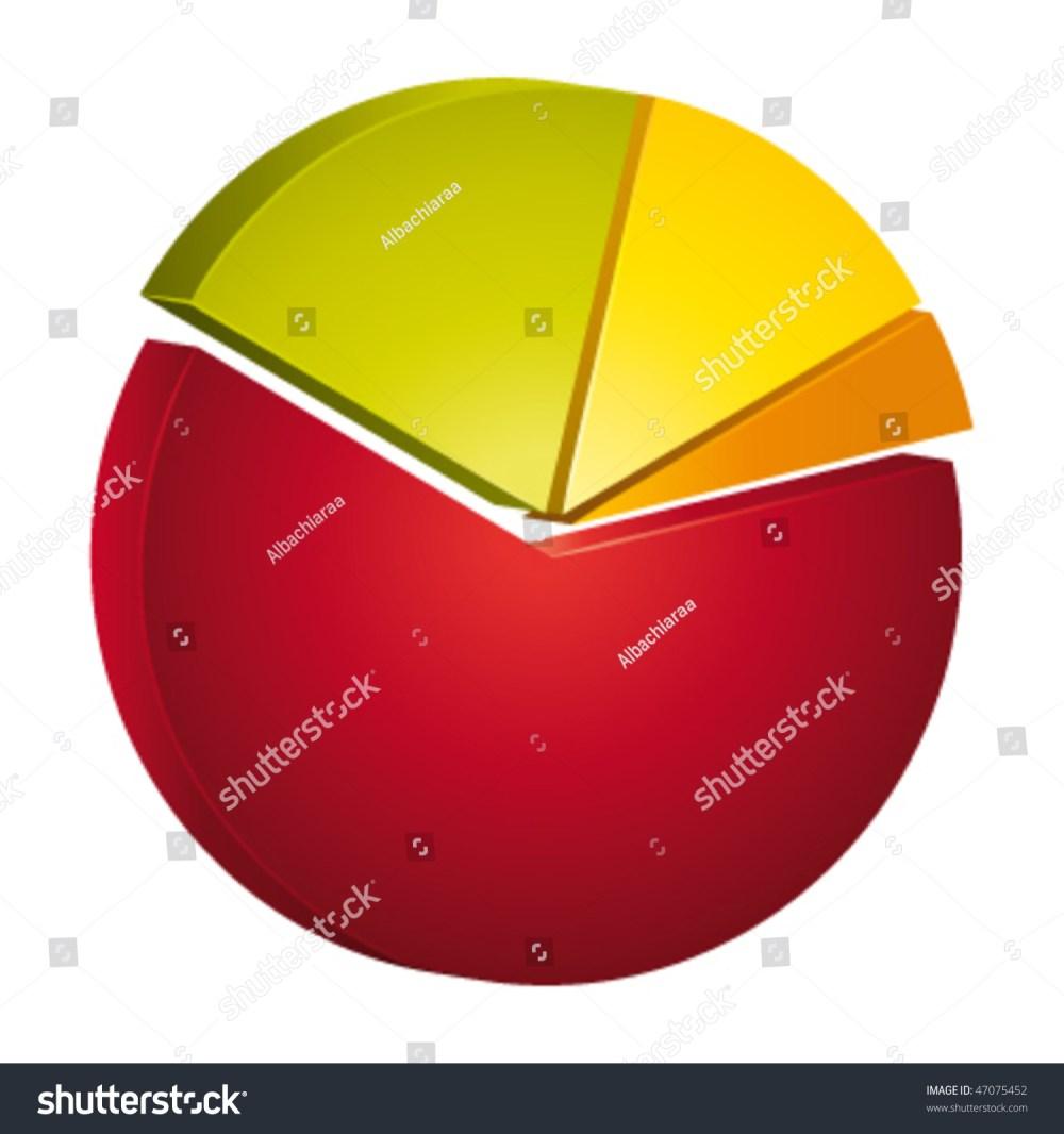 medium resolution of 3d circular diagram for statistics vector illustration