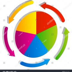 3 Arrow Circle Diagram 240 Volt Pressure Switch Wiring 3d Pie Chart Element Circular Stock Vector