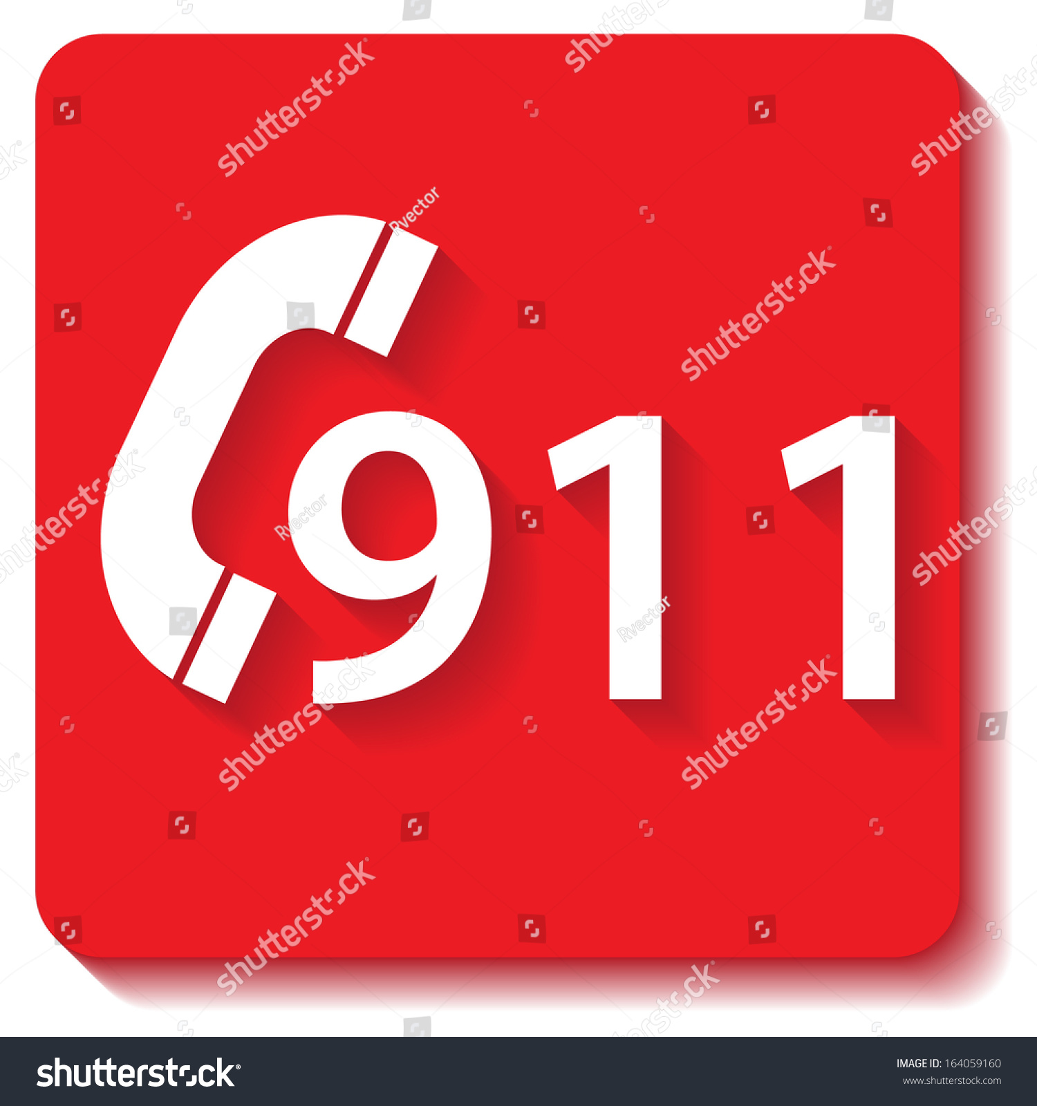 911 Emergency Call Stock Vector