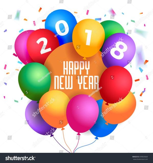 2018 happy year illustration