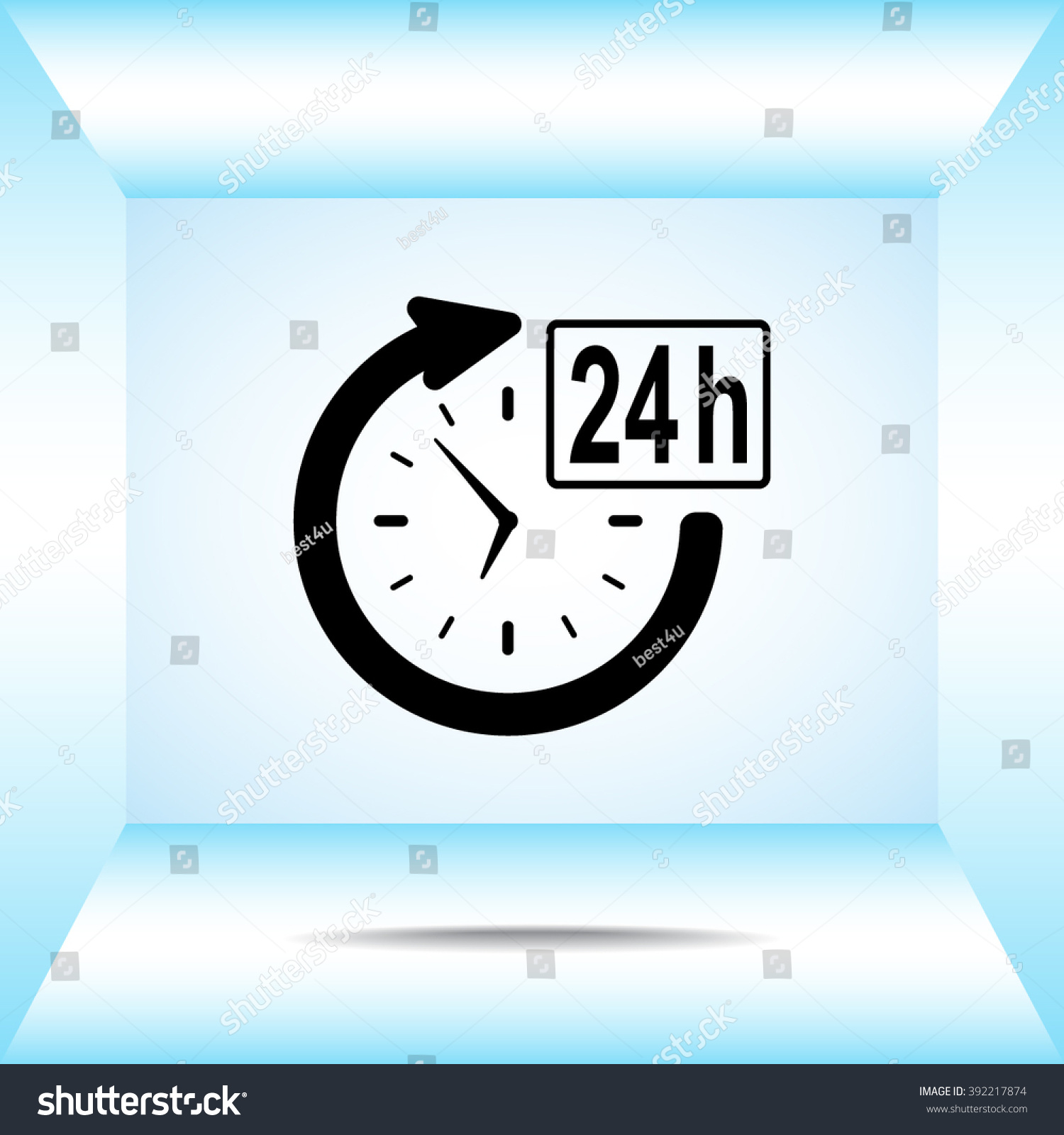 24 Hours Customer Service Sign Icons Stock Vector