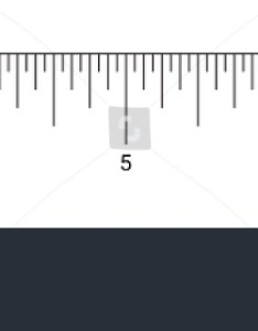 inches ruler measurement tool with numbers scale vector in actual size inch chart also stock royalty free rh shutterstock