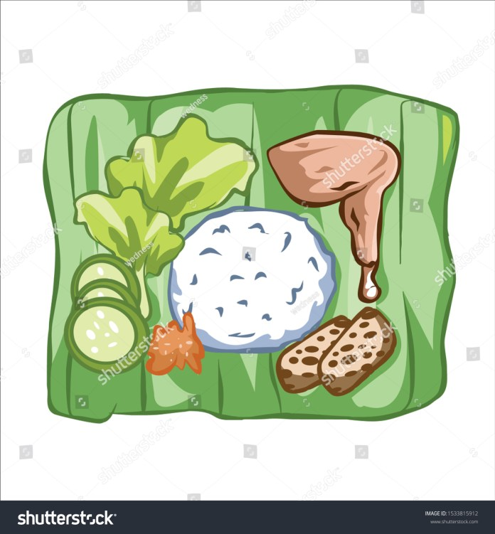Lalapan Indonesian Traditional Food Vector Illustration Stock Vector Royalty Free 1533815912