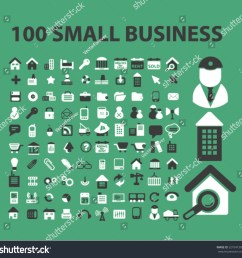 100 small business company icons [ 1500 x 1477 Pixel ]