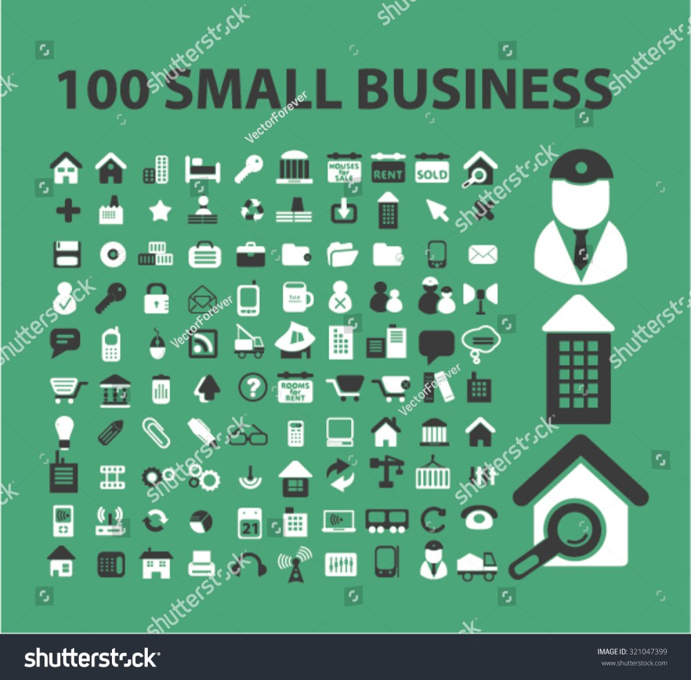 medium resolution of 100 small business company icons