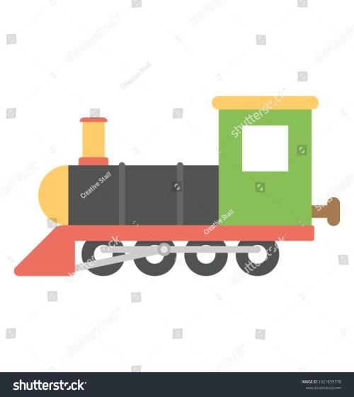 small resolution of steam engine cartoon retro train or train engine vector icon in flat design