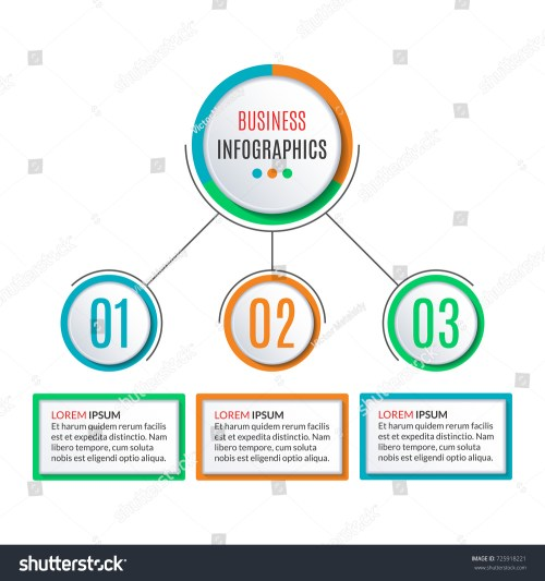 small resolution of 3 steps circle infographics template business process background with 3 options levels data