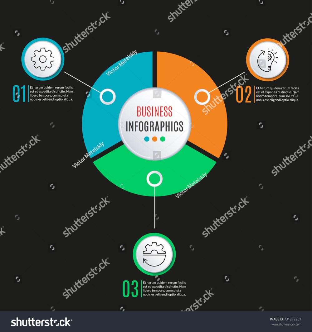 medium resolution of 3 steps circle infographics template business process background with 3 options levels data